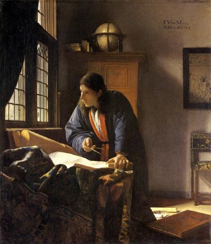 地理学者 ヨハネス・フェルメール(Johannes Vermeer)地理学者 フェルメールその軌